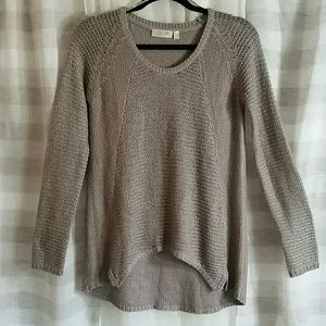 RD Style High Low Long Sleeve Knit Sweater
